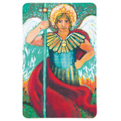 St Michael Archangel Contemporary Holy Card with Prayer DI9927