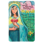 Most Blessed Mother Contemporary Holy Card with Prayer DI9930