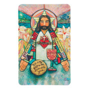 Sacred Heart Contemporary Holy Card with Prayer DI9931