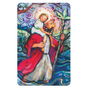 St Christopher Contemporary Holy Card with Prayer DI9932