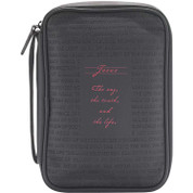 Bible Case Jesus The Way Truth Life Black Vinyl DIBCV273