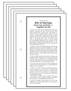 Rite of Marriage Ritual Cards ONLY AMROM