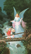 Guardian Angel with Children on the Bridge Card EGARS69