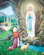 """Our Lady of Lourdes Print Only Size 8"""" x 10"""" EGSTELLA77"""