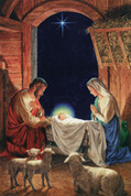 Holy Family at the Manger Notecard EGNOTE128