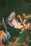 Nativity Scene with Kneeling Admiration Notecard EGNOTE55