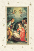 Nativity Scene Holy Family with Shepherd Notecard EGNOTEN12