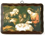 Nativity Scene Holy Family Wooden Plaque EG2064X6