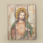 Sacred Heart of Jesus | Decorative Wooden Panels | Style RO69918