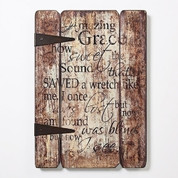 Amazing Grace Words on Decorative Wooden Styled Panels RO66486