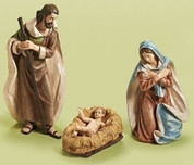 3 Piece Traditional Nativity Includes Infant Jesus Mary & Joseph Polynesian scaled to 32 inches Fixed Shipping Rate applies RO31990
