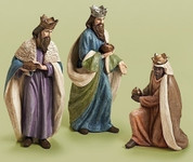 3 piece traditional nativity set large 3 kings set tallest stands 32 inches RO31994