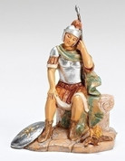 Nicodemus Nativity Piece Resting Soldier from Fontanini Part of 5 inch Scale Family Heirloom Nativity Collection made of Resin RO57111