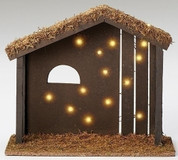 Nativity Stable  12 inches tall x 14 inches wide made of high Density Fiberboard Fontanini Batteries Not Included RO50864