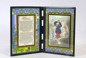 Stained Glass Prayer to Mary Untier of Knots Plaque SIPR198DSE