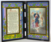 Stained Glass Prayer to Mary Untier of Knots Plaque Spanish SIPR198DSS