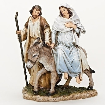 Holy family figurine nativity 8 resin las posadas for Idea door journey to bethlehem