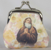 Rosary Pouch St Francis Paula Rose Bead Rosary FAR1071S01