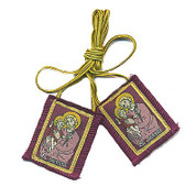 St Joseph Scapular Purple Wool ZR7790P