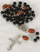 My Sports Rosary Football Black Beads DV60965FT