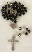 My Sports Rosary Soccer Black Beads DV60965SOC