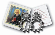 St Benedict | Rosary Ring | Prayer Card