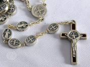 St Benedict Rosary | Medal Beads | Available in 2 Enamel Inlay Colors (TIE1360