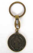 St Benedict Medal Key Chain Bronze Finish DA6011A