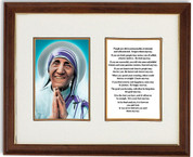 St Teresa of Calcutta Brown And Gold Frame Size 11 x 14 Inches JB13001374