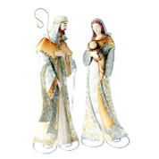 2 Piece Holy Family Soft Colors With Metallic Accents Galvanized Tin 22 inches high RAZ3645702
