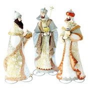 Three Wise Men set Galvanized Iron Figures standing 22 inches tall RAZ3645703