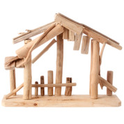 Nativity Stable made Driftwood measures 11 and 1 half by 15 inches RAZ3409283