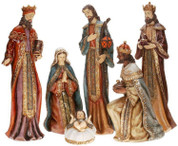 6 Piece Traditional Nativity Ornate Set Includes Set Jesus Mary Joseph and 3 Kings Tallest Piece is 26 inches High MAR6311122