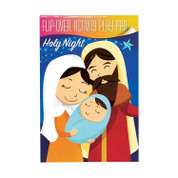 Holy Night Play Pad Flip-Over Style Paperback with Activities Centered Around The Holy Family 16 pages 5 inches 60379950579