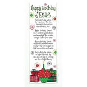 Happy Birthday Jesus Bookmark with Poem About The Reason For The Season in Festive Colors measures 2 inches by 6 inches Package of 12 DICHBKM3005