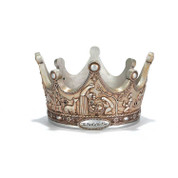 "Candle Holder Crown Birth of the King 8"" DICHCD819"