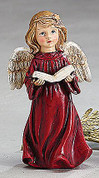 "Angel Child Reading the Bible Red Gown 3.75"" BUR9728139A"