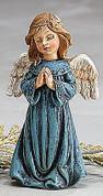 "Angel Child Saying a Prayer Blue Gown 3.75"" BUR9728139C"