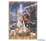 Small Christmas Story Wall Hanging  Decoupage on Wood Slats measures 8 and 1 half by 11 inches BUR9728458
