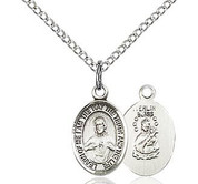 Sacred Heart of Jesus and Our Lady of Mount Carmel Scapular Sterling Silver Medal measures 1 half inch high comes with 18 inch stainless silver curb chain BL9098SS18S