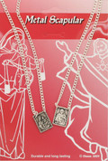 Our Lady of Mount Carmel Scapular two medals on an oxidized metal 18 inch chain DVCOXC