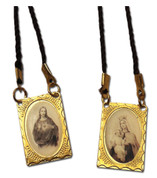 Scapular Of the Sacred Heart | Gold Tone | Brazil | 1501