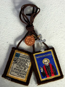 Scapular St Maximilian Kolbe Brown Crucifix St Benedict Medal ZRW7789