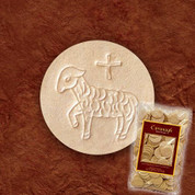 "Altar Bread Host Wheat Size 1-3/8"" Lamb Design 250 Host CA138WWL"