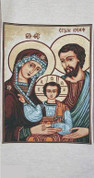 Holy Family Tapestry Banner From Italy ECMCA295