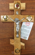 Eastern-Orthodox-Holy-Elements-Crucifix-with-Frankincense-Earth-Leaves-and-Stones-From-Jerusalem-made-Olive-Wood-In-Bethlehem-measure3s-10-inches-BAOWCRS0254