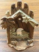 "Carved Nativity Olive Wood  4"" Made in Bethlehem BAOWNAT027"