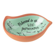 Keepsake Dish Bird Shaped Terra Cotta James 1:12 DITERCOTTRA1