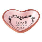 Keepsake Dish Heart Shaped Terra Cotta Cor. 1:13 DITERCOTTRA3