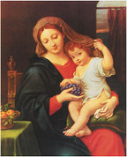 "Madonna of the Grapes Print ONLY 8"" x 10"" HIP810246"